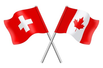 Flags: Switzerland and Canada