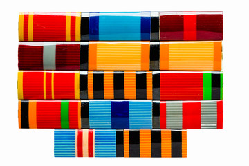 Collection Of Russian (Soviet) Medal Ribbons For Participation I
