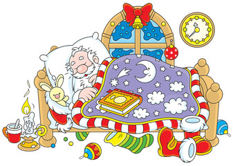 Santa Claus sleeping
