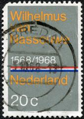 stamp printed in the Netherlands shows Wilhelmus van Nassouwe