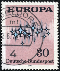 stamp printed in the Federal Republic of Germany shows Europa