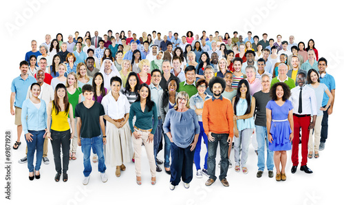 Multiethnic Group of People Smiling - 69871928