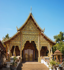 View of Buddha temple in the center of Chiang Mai