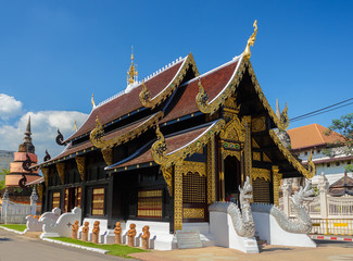 View of Wat Inthakhin in the center of Chiang Mai