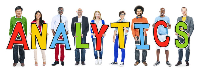 Group of People Standing Holding Analytics
