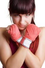 Portrait Boxen Frau