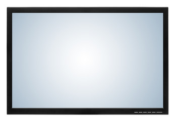 Computer display or lcd tv on white background