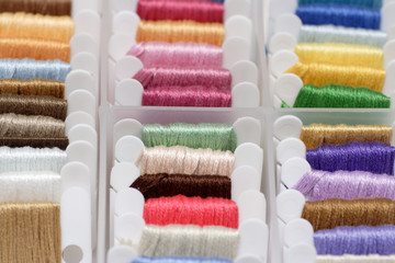 Embroidery floss sorting box