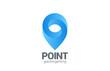 Logo Location Pin map symbol vector design. Geo point