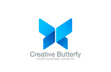 Butterfly Logo vector design corporate business template - 69873149
