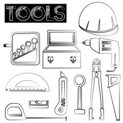 tools icons, sketch design