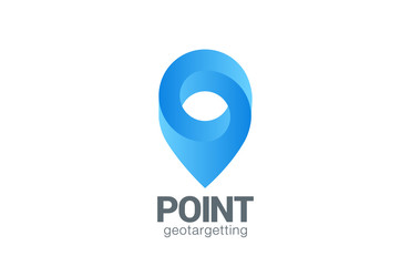 Logo Location Pin map symbol vector design. Geo point