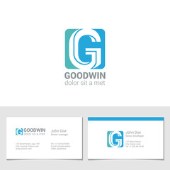 Corporate Logo G Letter company vector design. Logotype