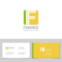 Corporate Logo F Letter company vector design. Logotype