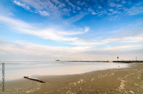 canvas print picture Spiaggia di fine estate