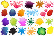 Zdjęcia na płótnie, fototapety, obrazy : Painting ink splashes