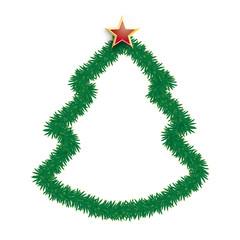 Fir Twigs Christmas Tree Star