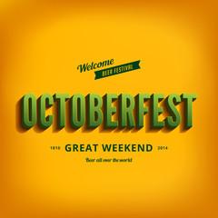 Octoberfest festival typography vintage retro style
