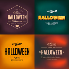 Halloween festival typography vintage retro style vector design
