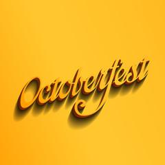 Octoberfest festival typography vintage retro calligraphic style