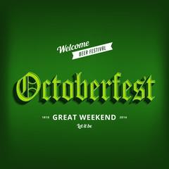 Octoberfest festival typography vintage retro Gothic style