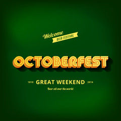 Octoberfest festival typography vintage retro style vector
