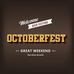 Octoberfest festival typography vintage retro vector design