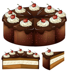 A mouthwatering chocolate cake