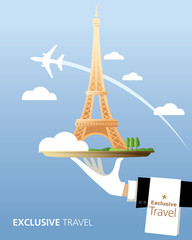 Exclusive, France, Eiffel Tower, Travel, Serve