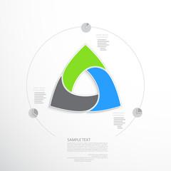 Minimal infographics template, flat design