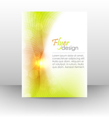 Business flyer template, cover design with shiny effect