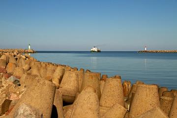 Sea gate in Venspils.