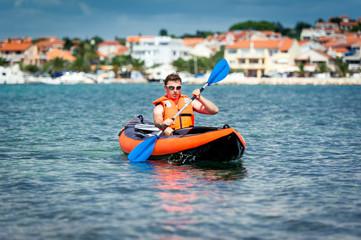 kayak on the sea