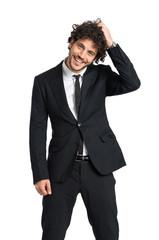 Elegant Shy Man Smiling