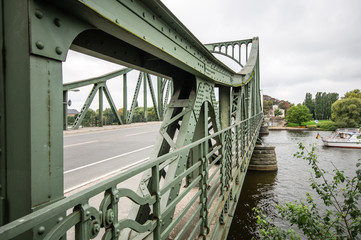 The Glienicke bridge between Berlin and Potsdam