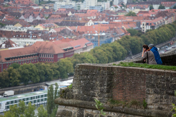 people looking over wuerzburg city