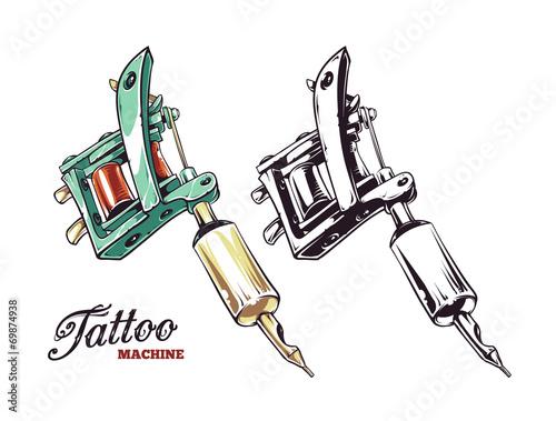 Tattoo Machine Vector - 69874938
