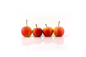 """""""Jazz"""" apples on a white background"""