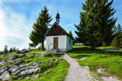 Leinwanddruck Bild Kapelle Mariae Himmelfahrt - Winklmoosalm