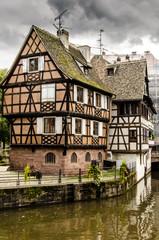 Fachwerk Haeuser in La Petite France Strasbourg