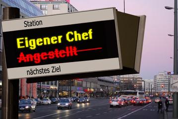 Anzeigetafel 5 - Eigener Chef