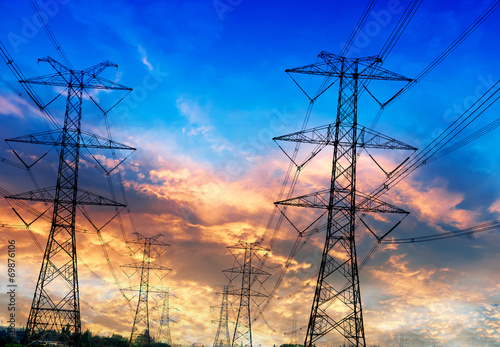 Electricity pylons - 69876106