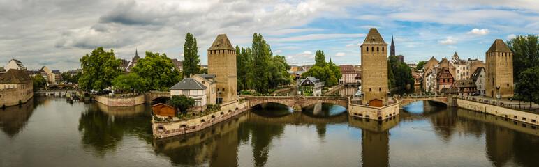 Panorama gedeckte Bruecken in Strasbourg