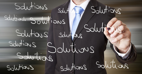 Businessman solution concept