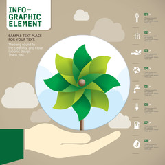 Pinwheel INFO-GRAPHIC element , Vector