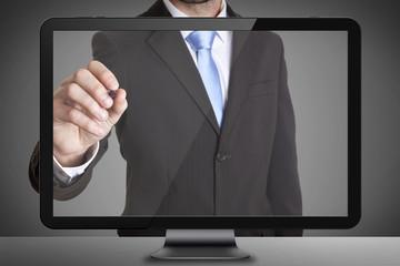 Businessman tablet concept