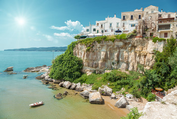 Old seeside town of Vieste in Italy
