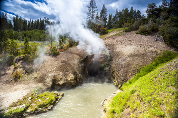 Dragon's Mouth, Mud Volcano Pool, Yellowstone National Park