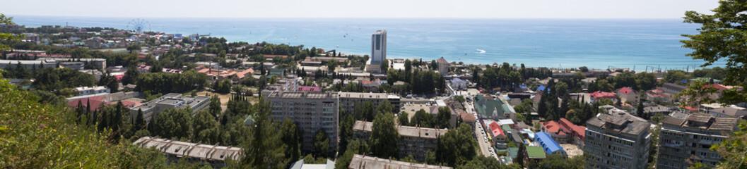 Панорамный вид посёлка Лазаревское, Сочи