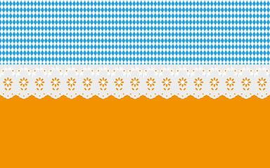 Oktoberfest Hintergrund Muster Ajour Gardienen Bier
